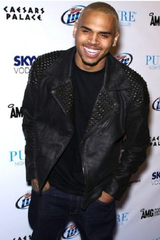 Chris Brown Mosaic Leather Jacket