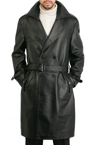 Exclusive Skyfall Silva Leather Trench Coat