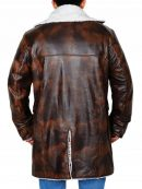 The Dark Knight Rises Tom Hardy Bane Distressed Leather Coat