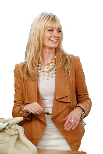 2 Broke Girls Caroline Channing Brown Jacket