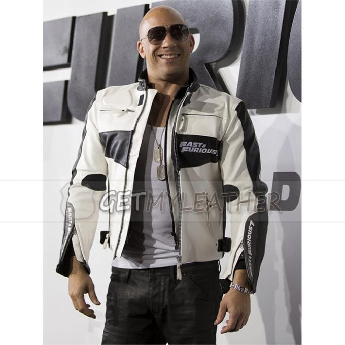 Fast And Furious 7 Vin Diesel White Jacket getmyleather