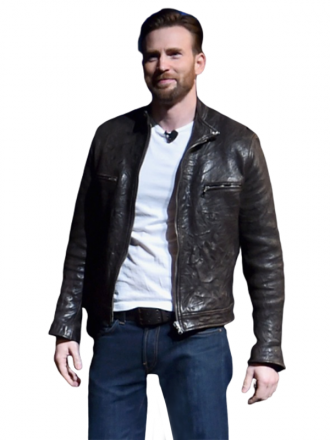 Captain America Chris Evans Stylish Leather Jacket