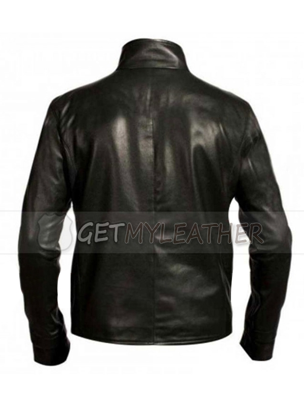 Punisher Skull Black Biker Jacket