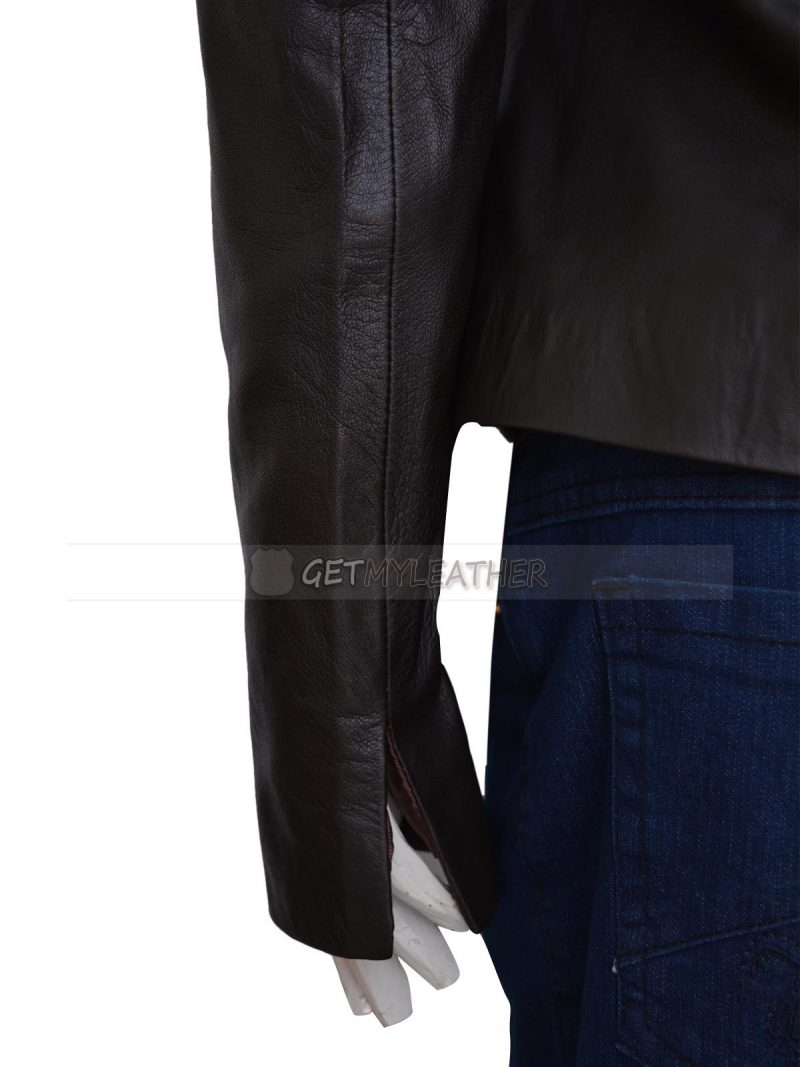 Superior Quality Leather Women Jacket Cuffs