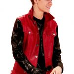 Classy Justin Bieber Red and Black Jacket