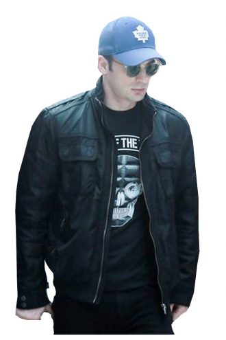 Avengers Age Of Ultron Chris Evans Leather Jacket