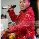 Stylish Chris Brown Red Leather Jacket
