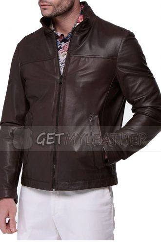 Stylish Stephen Amell Brown Leather Jacket