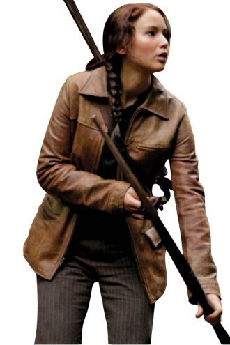 The Hunger Games Movie Katniss Everdeen Brown Jacket
