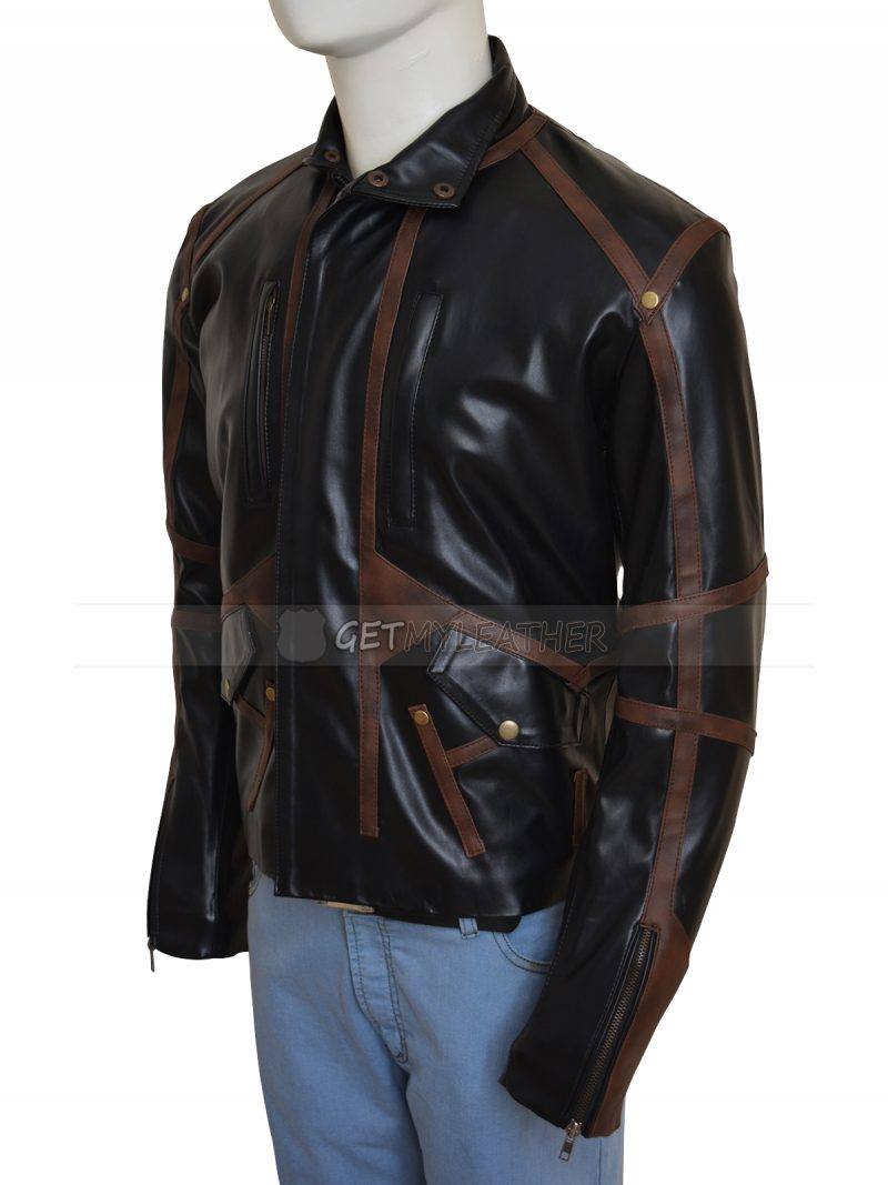 Sebastian Stan Bucky Barnes Leather Black Jacket