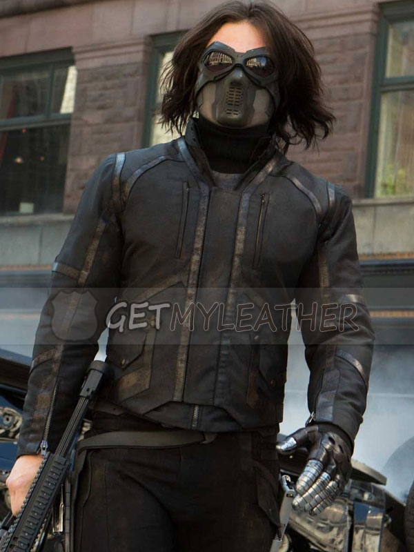 Sebastian Stan Bucky Barnes Movie Jacket
