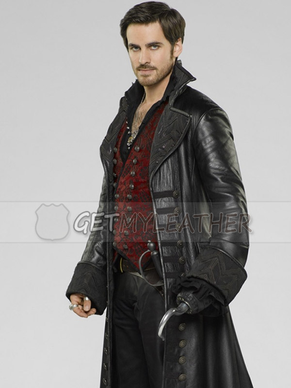 Once Upon a Time Captain Hook Trench Leather Coat
