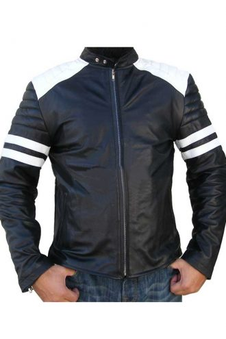 brad-pitt-fight-club-black-biker-jacket