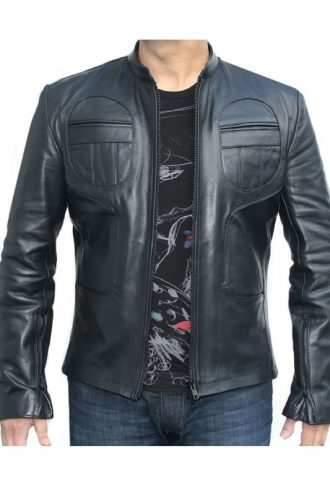 Classyak Men Fashion Black Sheep Leather Jacket