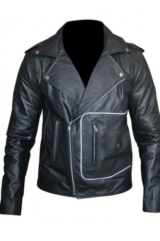 Grease T Birds Black Motorcycle Leather Jacket