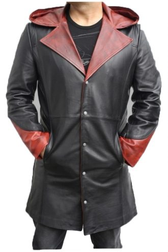 Devil May Cry Black Leather Coat