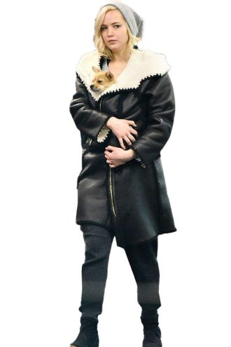 Jennifer Lawrence Shearling Coat