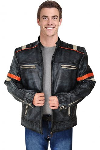 Mens Biker jacket, Vintage Cafe