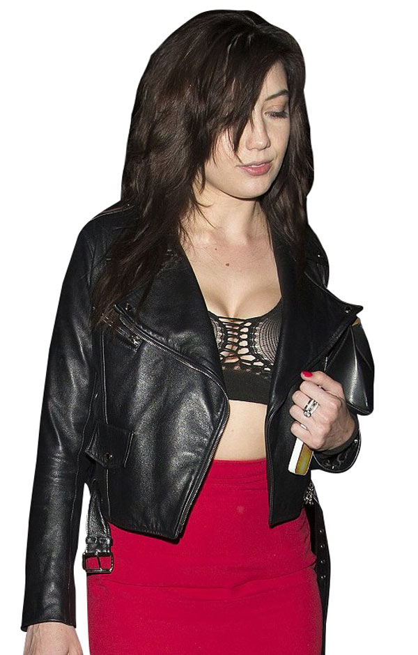 Daisy Lowe Quilted Leather Jacket