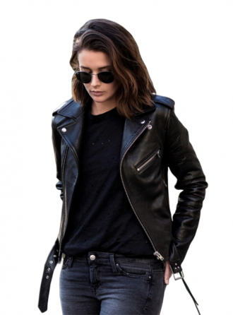 Women Distinctive Motorcycle Leather Jacket