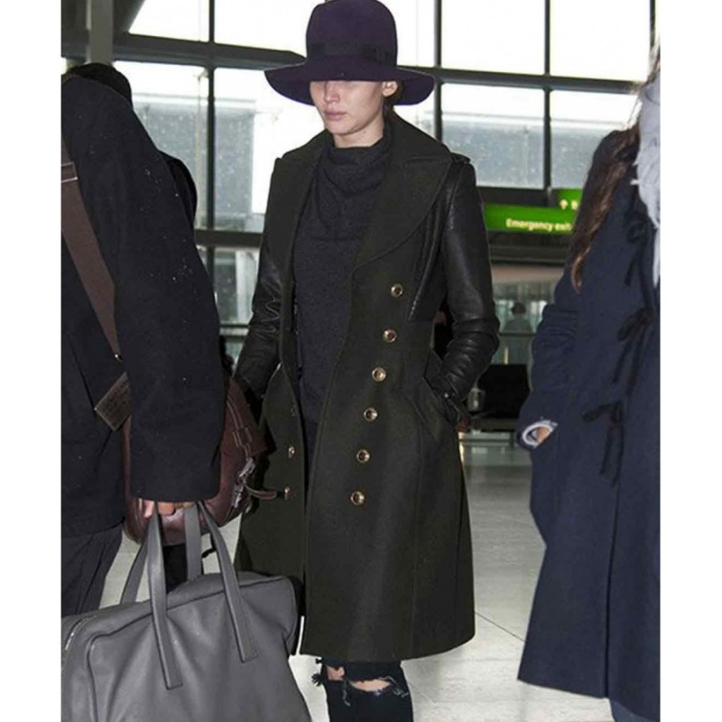 Jennifer Lawrence long coat