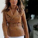 Melania Trump Former model coat