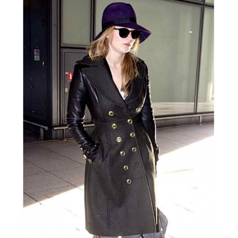 Jennifer Lawrence Trench Coat