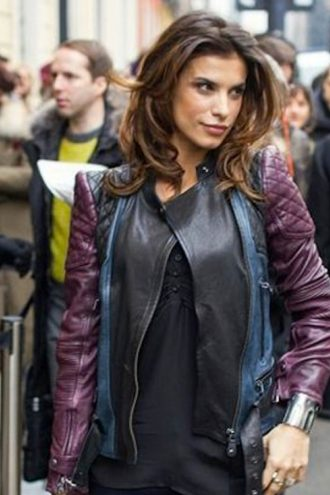 elisabetta-canalis-quilted-leather-jacket