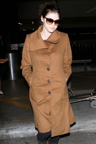 Brown Wool Coat, Women's Fashion