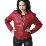 Red Leather Jacket, women's fashion