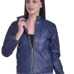 slim fit leather jacket, women's fashion