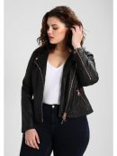 ladies leather jacket, wome's fashion