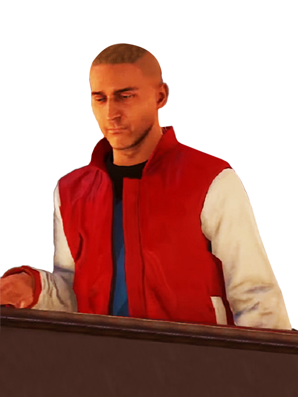 Watch Dog 3 Viktor Lysenko Red Leather Jacket