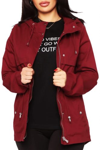 Lovely Anorak Red Cotton Jacket
