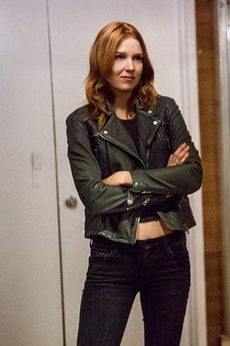 Power Lucy Walters Black Leather Jacket