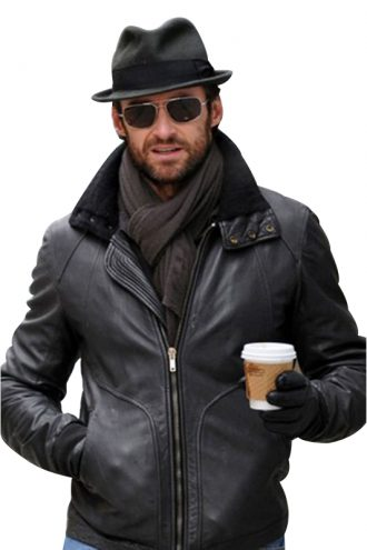 Hugh Jackman Black Leather Jacket