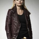 Emma Swan Maroon Leather Jacket