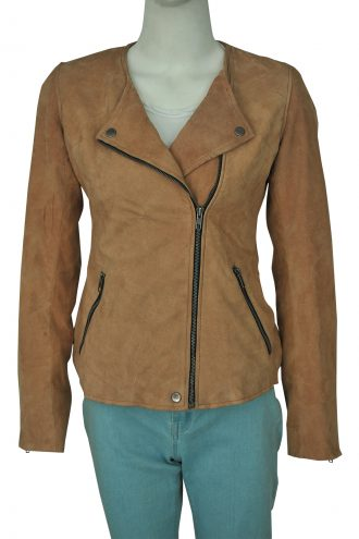 Linda-Cardellini-Dead-to-Me-Suede-Brown-Jacket-7