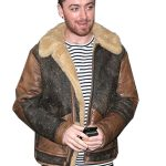 Sam Smith Singer Leather Jacket