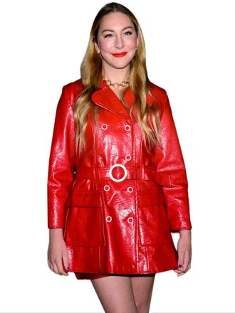 Este Haim Premiere AJ & The Queen Leather Coat