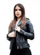 Women Quilted Design Sizzling Leather Jacket