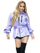 Ally Brooke Lovely Purple Jacket In New York City
