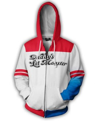 Harley Quinn Daddy's Lil Monster Hoodie Jacket