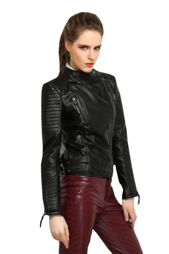 Women's Sheepskin Soft Slim Fit Leather Jacket