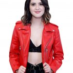 Laura Marano NYC Red Leather Jacket